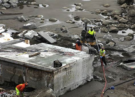 Japanese Dock Lost in 2011 Tsunami Removed from Washington
