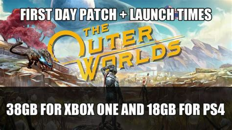 The Outer Worlds Day One Patch is 38GB for Xbox One and