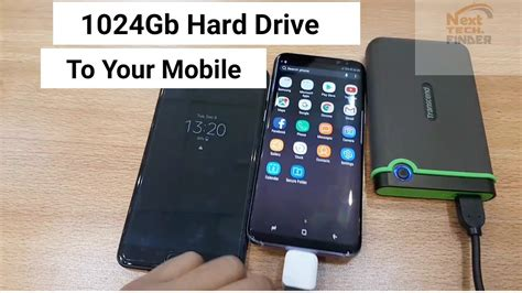 How to Connect Hard drive 1TB On Mobile Samsung S8 & C9