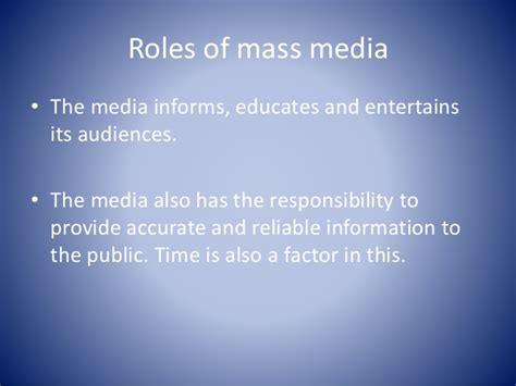 The Role of mass media in the caribbean