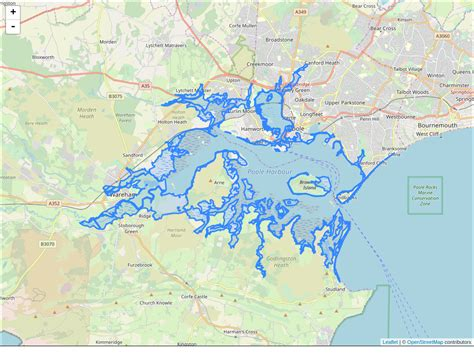 Dorset coast at Poole Harbour :: Flood alerts and warnings