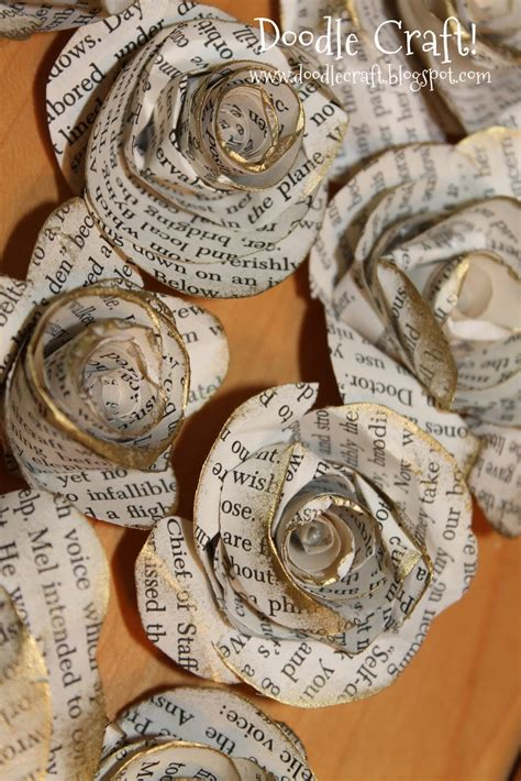 Upcycled Book Page Rosettes!