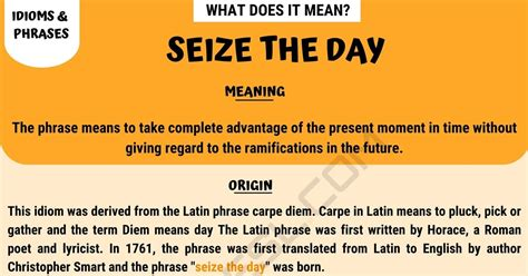 """Seize The Day: What Does The Interesting Idiom """"Seize The"""
