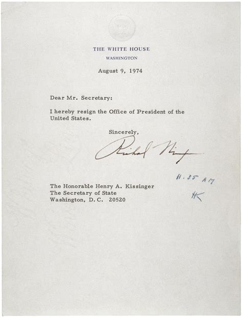 Nixon's Resignation Letter - Ghosts of DC