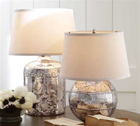 Marley Antique Mercury Glass Table Lamp Bases   Pottery Barn