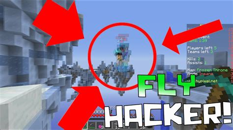 FLY HACKERS ARE TAKING OVER!! ( Minecraft Team Skywars