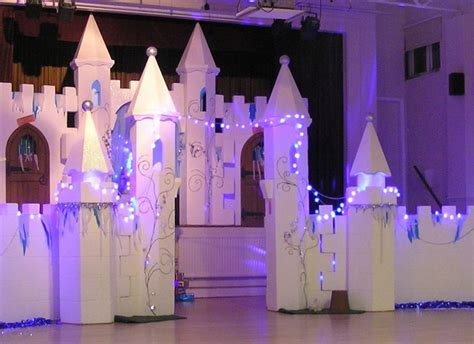 Ice Castle set on stage and floor, a stunning backdrop for