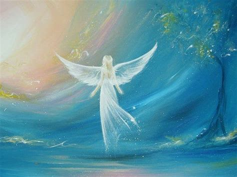 """ANGEL ART POSTER, Guardian angel painting """"Believe in your"""